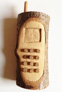 Holz-Handy