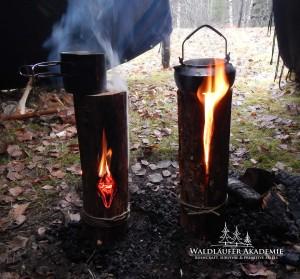 kochen auf Schwedenfeuer